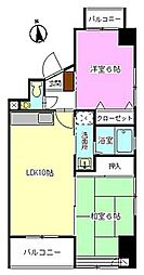 ブラウンハウス[702号室]の間取り