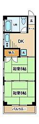 東京都府中市宮西町4丁目の賃貸マンションの間取り
