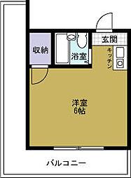 JPアパートメント港5[4階]の間取り