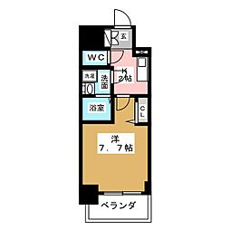 プレサンス桜通ザ・タイムズ[2階]の間取り