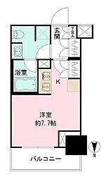 都営三田線 芝公園駅 徒歩3分の賃貸マンション 2階ワンルームの間取り