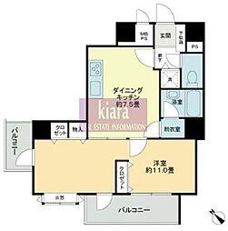 ライオンズマンション横浜ポートビュー[509号室]の間取り