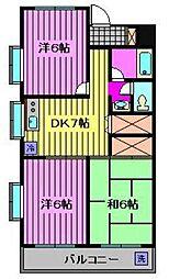 ハピネスマンション[301号室]の間取り
