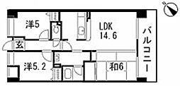 第2ライブ・コーポ辰広[3階]の間取り