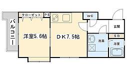FORTUNATE砂津[706号室]の間取り