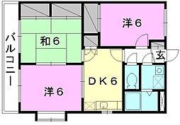 ユーミーAOKI A棟[503 号室号室]の間取り