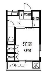 東京都練馬区北町2丁目の賃貸アパートの間取り