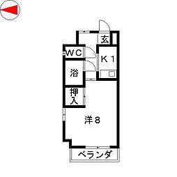ドミール神谷[1階]の間取り