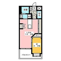 グランメール博多東[4階]の間取り