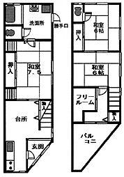 野江1丁目戸建て 1階3SDKの間取り
