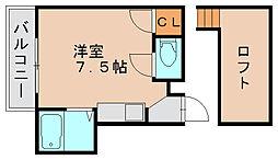 セラーヴィ箱崎宮前[2階]の間取り