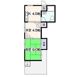 青楓荘[1階]の間取り