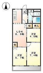 ピュアグランデMIYANISHI[2階]の間取り