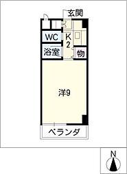 アビタシオン セイ[2階]の間取り