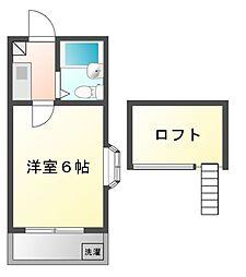 ジュネパレス田久保[2階]の間取り