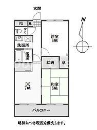 ダイアパレス新蔵[8階]の間取り