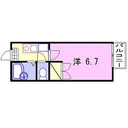 キャトルセゾン福崎[204号室]の間取り