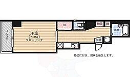 WOGUE OHTEMON 2階1Kの間取り