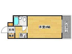 福岡県福岡市中央区白金2丁目の賃貸マンションの間取り