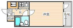 朝日プラザ博多Vターミナルスクエア[4階]の間取り