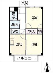 ハイツユーパートIII[1階]の間取り
