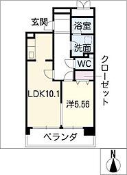 La FELMO 菊坂[4階]の間取り