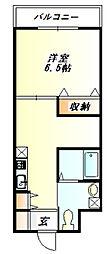 ユートピア三田[3階]の間取り