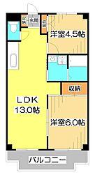 JUN志木ハイツ[2階]の間取り