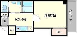 サニーハウス東梅田[4階]の間取り