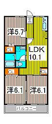 サニーコートAOKI[3階]の間取り