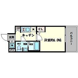エスリード心斎橋EAST[10階]の間取り