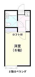 ローズアパートR14番館B棟[210号室]の間取り