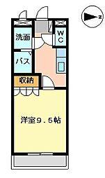 メルヴェーユ宮崎[1階]の間取り