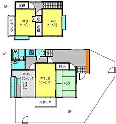 京急本線 屏風浦駅 徒歩14分の賃貸一戸建て 1階4DKの間取り