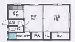 青森市大字油川 新晴荘[2号室号室]の間取り
