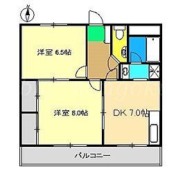 カーサMoTo[3階]の間取り