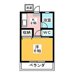 江幡コーポ[2階]の間取り