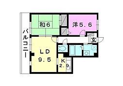 フォブール堀江ビーチ[302 号室号室]の間取り