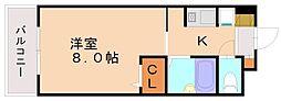 RJR大橋東[3階]の間取り