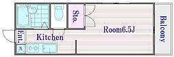 メゾントキワ[2階]の間取り