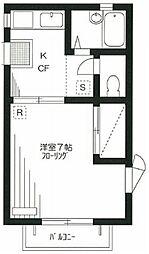 シャトル東蒲田 bt[208kk号室]の間取り