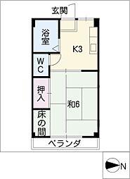 石居コーポ[3階]の間取り