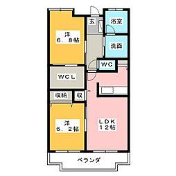 エミネンスグリーン[4階]の間取り