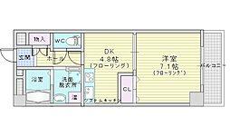 北大阪急行電鉄 千里中央駅 徒歩10分の賃貸マンション 1階1DKの間取り