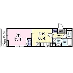 東京都大田区池上7丁目の賃貸アパートの間取り