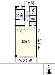 パークハウス梅森[3階]の間取り