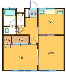 第1大谷アパート[102号室]の間取り