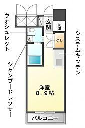 グレンパーク江坂II[4階]の間取り
