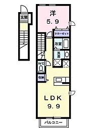 ミニヨン2 B棟[201 号室号室]の間取り