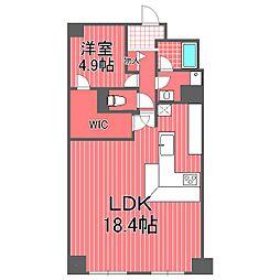 コスモ横浜ルオーレ[4階]の間取り